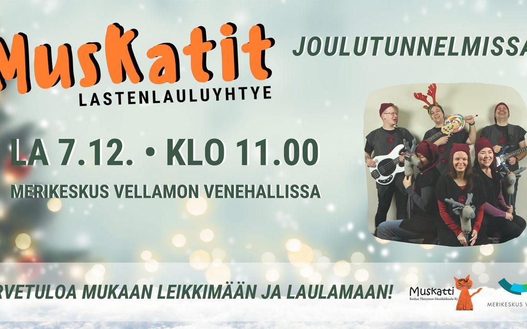Venehalli soi! Lastenlauluyhtye Muskatit joulutunnelmissa.7.12.2019 klo 11